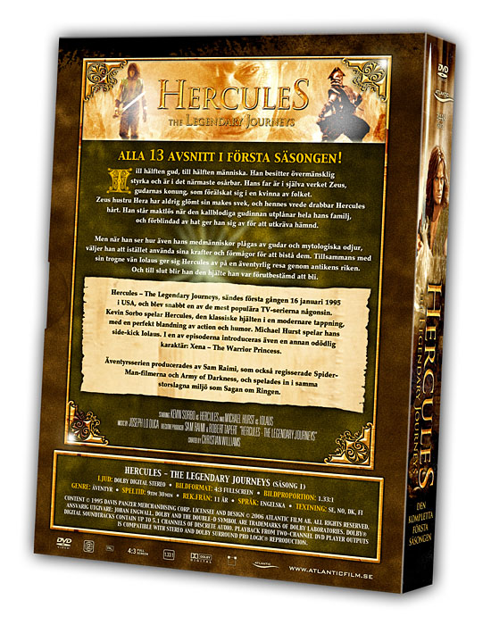 Hercules - The Legendary Journeys - Volume 1 Backcover