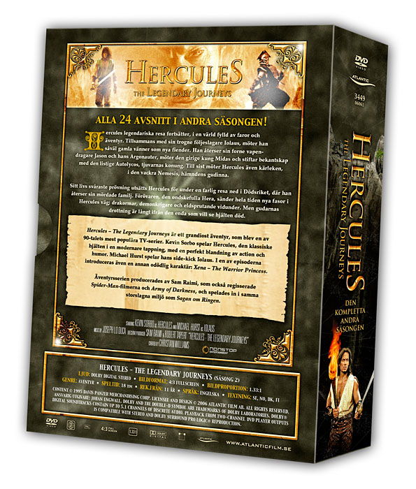 Hercules - The Legendary Journeys - Volume 2 Backcover