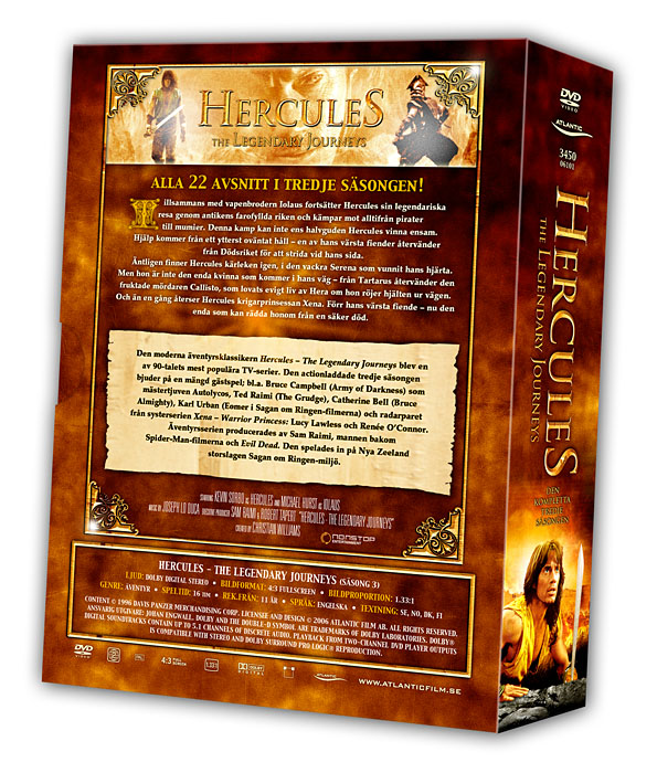 Hercules - The Legendary Journeys - Volume 3 Backcover