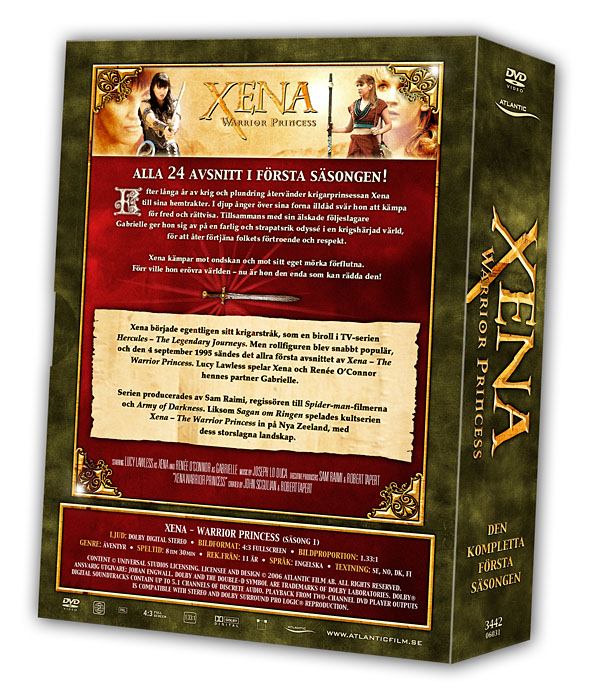 Xena - Warrior Princess - Volume 1 Backcover