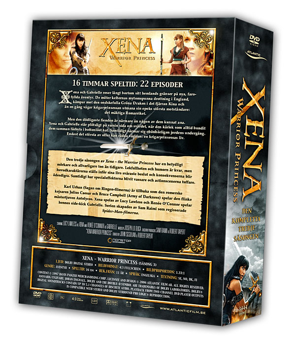 Xena - Warrior Princess - Volume 3 Backcover